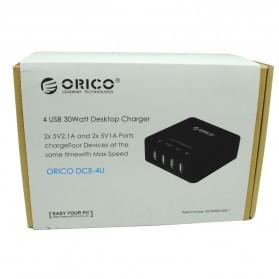 Orico USB Wall Travel Charger Hub 4 Port - DCE-4U - Black - 5