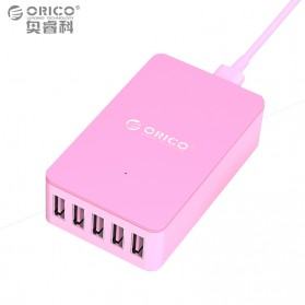 Orico USB Wall Travel Charger Hub 5 Port - CSE-5U - Pink