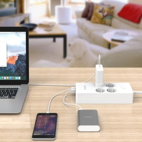 Orico Wall Charger with 4 AC Outlet and 5 USB Super Charger Port - HPC-4A5U - White - 4