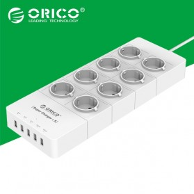 Orico Wall Charger with 8 AC Outlet and 5 USB Super Charger Port - HPC-8A5U - White