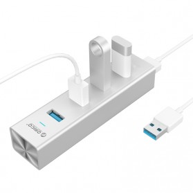 Orico Alumium USB 3.0 High Speed HUB 4 Port - H4013-U3 - Silver - 4