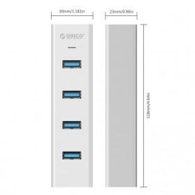 Orico Alumium USB 3.0 High Speed HUB 4 Port - H4013-U3 - Silver - 6