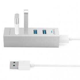 Orico Aluminium USB 3.0 Type A / C High Speed HUB 4 Port - ASH4-U3 - Silver - 4