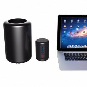 Orico Mac Style USB 3.0 High Speed HUB 4 Port and 2 Charging Port - RH4CS - Black - 4