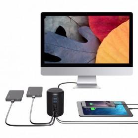 Orico Mac Style USB 3.0 High Speed HUB 4 Port and 2 Charging Port - RH4CS - Black - 5