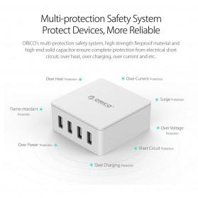 ORICO 4 Port Smart Desktop Charger - CSK-4U-V1 - Black - 5