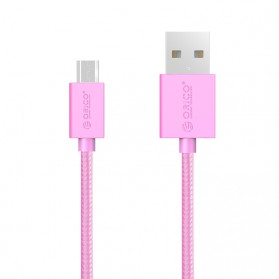 Orico Micro USB Nylon Braided Cable 1m - MDC-10 - Pink