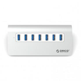 Orico Aluminium USB 3.0 High Speed HUB 7 Port - M3H7-V1 - Silver - 2
