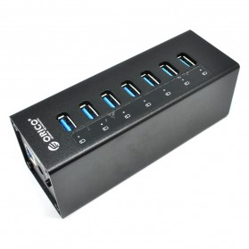 Jual USB Hub / Port - ORICO Aluminium 7 Port USB 3.0 HUB with 3.3Ft USB 3.0 Cable - A3H7-V1 - Black