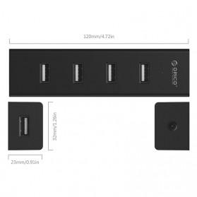 Orico USB 2.0 High Speed HUB 4 Port 30cm Cable - H4013-U2 - Black - 3
