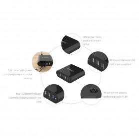Orico USB Wall Travel Charger Hub 4 Port - DCH-4U-V1 - Black - 4