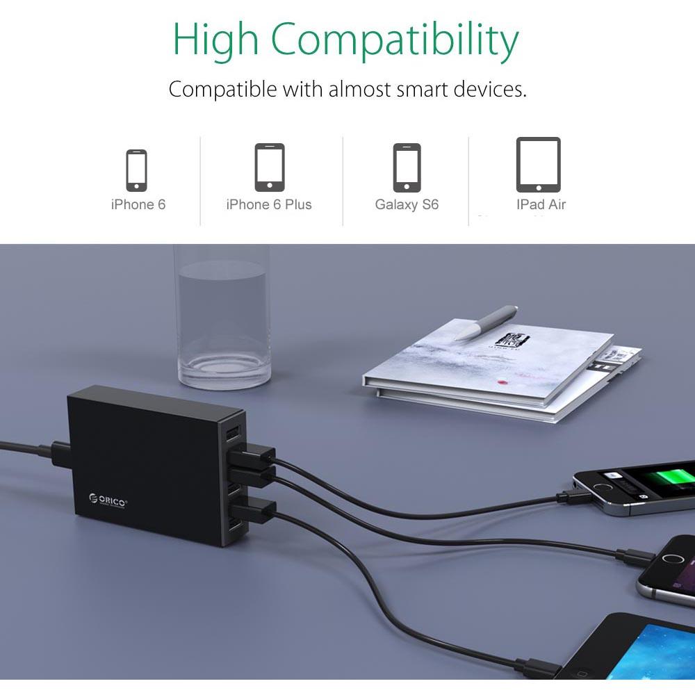 Orico Usb Desktop Charger 6 Port Eu Plug 10a Csl 6u Hitam Ucl 2u Dual Car 24a Untuk Handphone