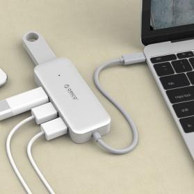 Orico USB Hub 4 Port USB Type C - TC4U - Silver - 4