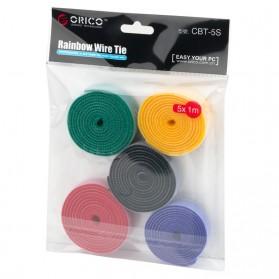 Orico Cable Clip Velcro 1M 5 PCS - CBT-5S - Multi-Color - 3