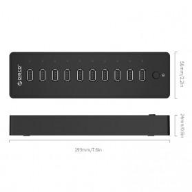 ORICO USB Hub 2.0 10 Port - P10-U2 - Black - 4