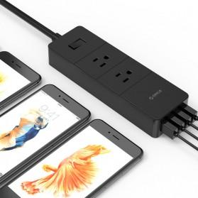 ORICO Stop Kontak Super Charger 2 AC Outlet + 4 USB - IPC-2A4U - Black - 3
