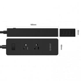 ORICO Stop Kontak Super Charger 2 AC Outlet + 4 USB - IPC-2A4U - Black - 4
