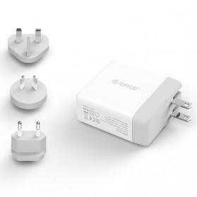 ORICO USB Travel Charger UK AU EU 4 Port 34W - DSP-4U - White - 2
