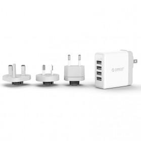 ORICO USB Travel Charger UK AU EU 4 Port 34W - DSP-4U - White - 3
