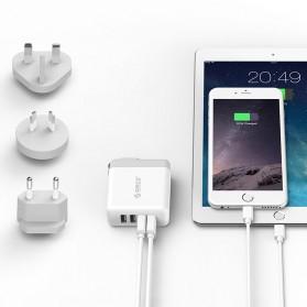 ORICO USB Travel Charger UK AU EU 4 Port 34W - DSP-4U - White - 4