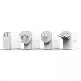 ORICO USB Travel Charger UK AU EU 4 Port 34W - DSP-4U - White - 5