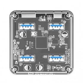 Orico USB Hub 3.0 4 Port Transparent Design 1 Meter - MH4U - Transparent - 2