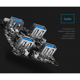Orico USB Hub 3.0 4 Port Transparent Design 1 Meter - MH4U-U3 - Transparent - 6