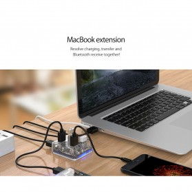Orico USB Hub 3.0 4 Port Transparent Design 1 Meter - MH4U-U3 - Transparent - 7