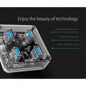 Orico USB Hub 3.0 4 Port Transparent Design 0.3 Meter - MH4U-U3 - Transparent - 2