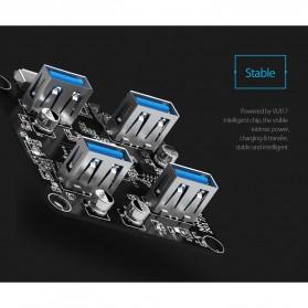 Orico USB Hub 3.0 4 Port Transparent Design 0.3 Meter - MH4U-U3 - Transparent - 3