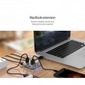 Orico USB Hub 3.0 4 Port Transparent Design 0.3 Meter - MH4U-U3 - Transparent - 4
