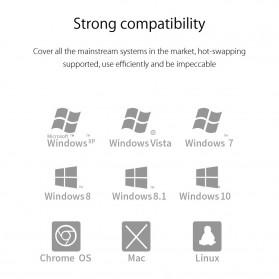 Orico USB Hub 3.0 4 Port Transparent Design 0.3 Meter - MH4U-U3 - Transparent - 7