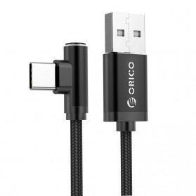 ORICO Kabel Charger USB Type C L Shape 1.2 Meter - HTL-12 - Black