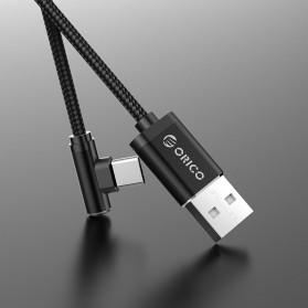 ORICO Kabel Charger USB Type C L Shape 1.2 Meter - HTC-12 - Black - 4