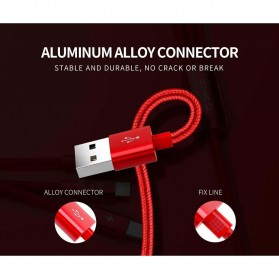 Orico 3 in 1 Kabel Charger 2xLightning + Micro USB 1.2M - UTS3-12 - Red - 8
