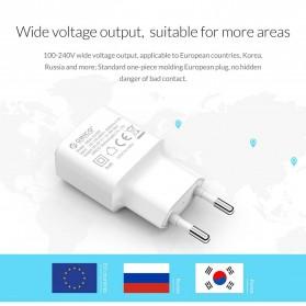 Orico Charger USB 1 Port EU Plug 2A 10W - WHA-1U - White - 10