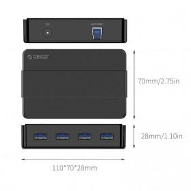 Orico USB Hub 3.0 High Speed 4 Port - H4928-U3 - Black - 4