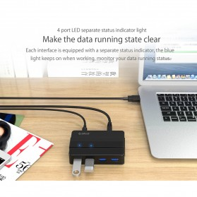 Orico USB Hub 3.0 High Speed 4 Port - H4928-U3 - Black - 6