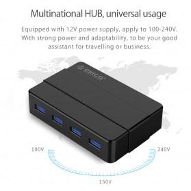 Orico USB Hub 3.0 High Speed 4 Port - H4928-U3 - Black - 7