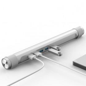 Orico USB Hub 3.0 High Speed 4 Port with Laptop Stand - M4U3 - Silver - 3