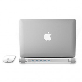 Orico USB Hub 3.0 High Speed 4 Port with Laptop Stand - M4U3 - Silver - 6