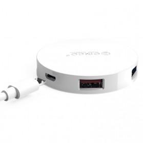 Orico USB Hub 3.0 4 Port Meter with Data Cable - HA4U-U3 - Black - 3