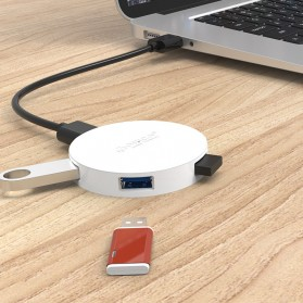Orico USB Hub 3.0 4 Port Meter with Data Cable - HA4U-U3 - Black - 4