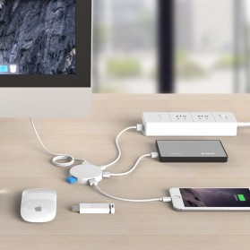 Orico USB Hub 3.0 4 Port Meter with Data Cable - HA4U-U3 - Black - 5