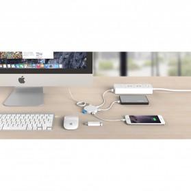 Orico USB Hub 3.0 4 Port Meter with Data Cable - HA4U-U3 - Black - 6