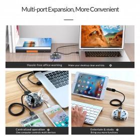 Orico USB Hub 3.0 7 Port Transparent Design 1 Meter - H7U-U3 - Transparent - 6