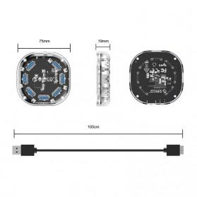 Orico USB Hub 3.0 7 Port Transparent Design 1 Meter - H7U-U3 - Transparent - 10