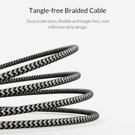 Orico Kabel Charger Fast Charging Braided Type C 1m - KTC2-10 - Black/Silver - 9