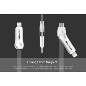 Nillkin Plus III Micro USB and Lightning Sync Data Charging Cable - Gray - 2