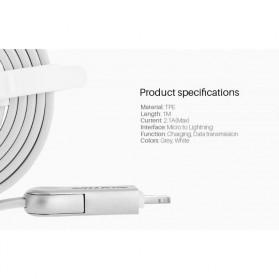 Nillkin Plus III Micro USB and Lightning Sync Data Charging Cable - Gray - 7